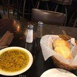 Grazia Italian Kitchen Pearland - Complimentary bread and seasoned olive oil