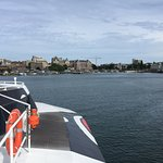 Coming in towards the Empress Hotel and to dock near by.