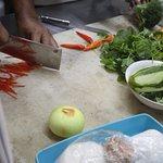 Lunch preparation at Waroeng Mendut