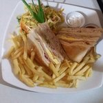 Flavors special club sandwich