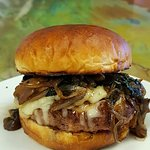 Special's Burger- sauteed mushroom onion and cheese