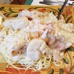 Seafood fettuccini,  Sweet Basilico