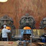 The pizza ovens at Via Napoli