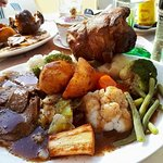 Sunday Roast. All served with Homemade Yorkshire Pudding.Mash & Roast Potatoes. Severn Varietys