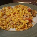 tagliolini freschi con seppie e zucchine