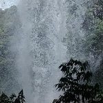 From under the waterfall