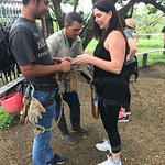 Safety Lesson and gearing up at Zipline