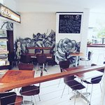 Our upstairs seating at The Paper Rose Cafe Formally Ethica Coffee House