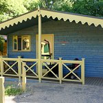 Our lodge. Just yards from the Lion enclosure