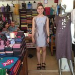 A beautyful girl with many dresses tailor made in Gia Huy shop