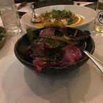 Salada Cesar com camarões