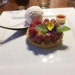 Homemade tart of the day - raspberry