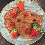 Fruit and chocolate Pancakes