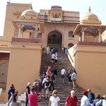 Amer fort way to Shila Devi temple (Kali Temple) Jaipur, Rajasthan (India)