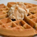Pecan Malted Belgium Waffle with real maple butter