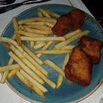 Kids Menu - 50AED (14$) for some dry fish and fries