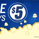 $5.00 movie all every day all Summer before 11:00a