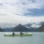 kayaking to glacier