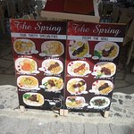 The advertising for the meals at the Spring Restaurant