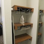 Closet shelving - hair dryer in closet, not in bathroom