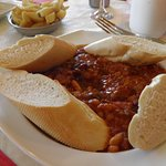 Bean Stew with Bread very tasty