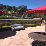 The patio with an amazing view