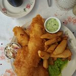 The Fish & Chips with mushy peas were Amazing!