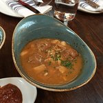 Meatball and squid stew