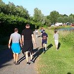 Walking round the lake