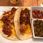 Carne Adovada Breakfast Tacos