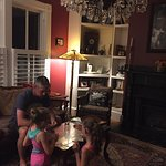 cards in the left parlor on a stormy night
