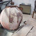 Bocha de galvanizado que operaba como tope del mastil