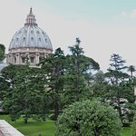 The dome of St Peter's Basilica ...