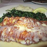 Good Petrale Sole with Spinach and Mashed Potatos, Massimo, Fremont, Ca