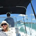 Catching some rays while on a Sightseeing Tour with Captain George - CocoVibes Tours