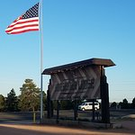 Old Glory marks the entrance
