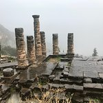 Delphi on a rainy day in June.