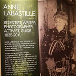 Anne LaBastilles exhibit at the Adirondack Museum in Blue Mountain Lake. She was one of the firs