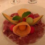 The prosciutto and melon appetizer