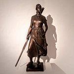 """""""Tine"""" Bronzefigur von Adolf Brütt"""