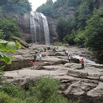 Navigating closer to the waterfall may be difficult for young children and elderly
