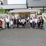 Commemorative photographs of the Japanese culture experience of the 15 Ambassador of Japan