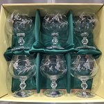 Duiske Glass Vine Cut Brandy Glasses