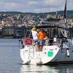 Mooring in Varna after yacht ride