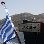 The Thalassitra tour takes you around the whole island, if weather permits.