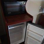 Mini- fridge and microwave