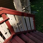 Missing handrail from cabin 6