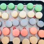 Home made Macarons every saturday and on command.