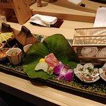 Sashimi decoration like a village