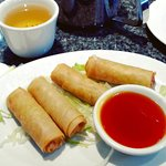 Spring rolls from Hung's Chinese Restaurant, London
